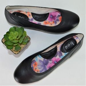 Born Concept BOC Ballet Flats Leather Black sz 9M
